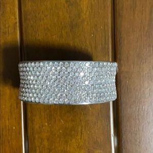 Sparkly silver cuff bracelet
